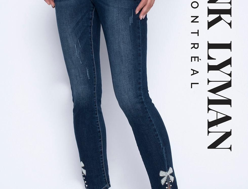 Hem Embellished Jeans