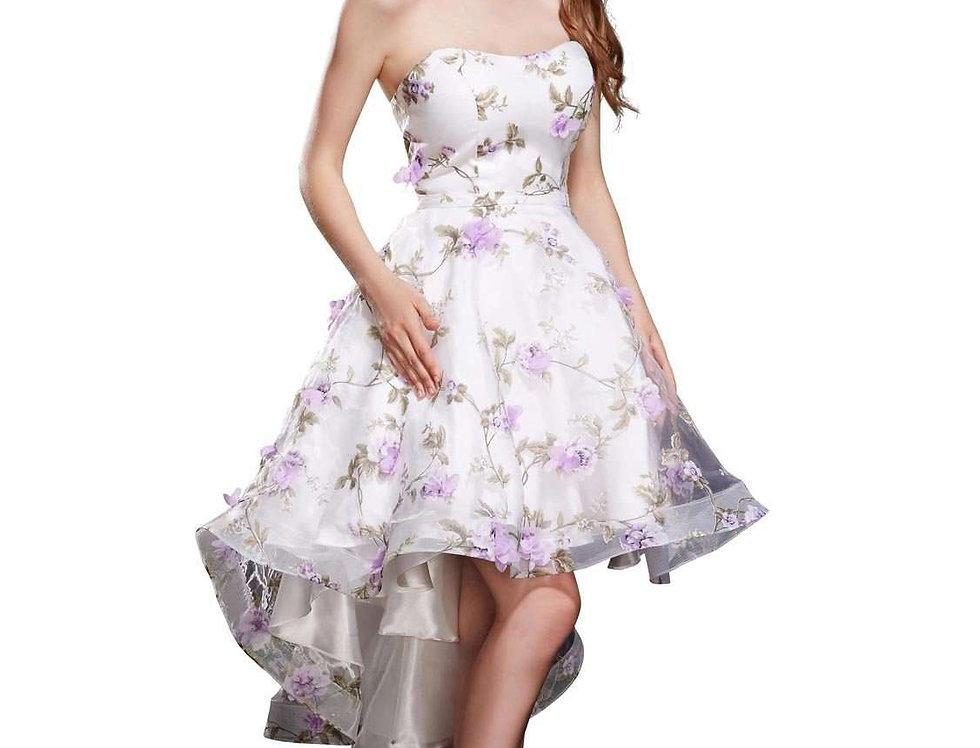 Floral High-Low Dress