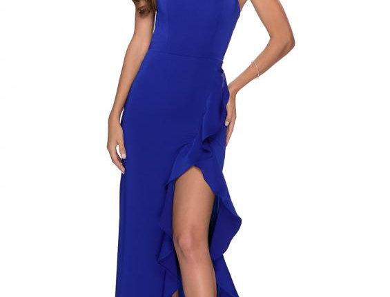 Wrap Ruffle Gown