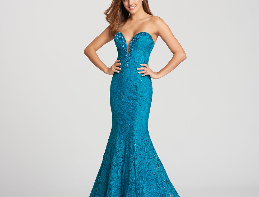 Mermaid Stretch Lace Gown