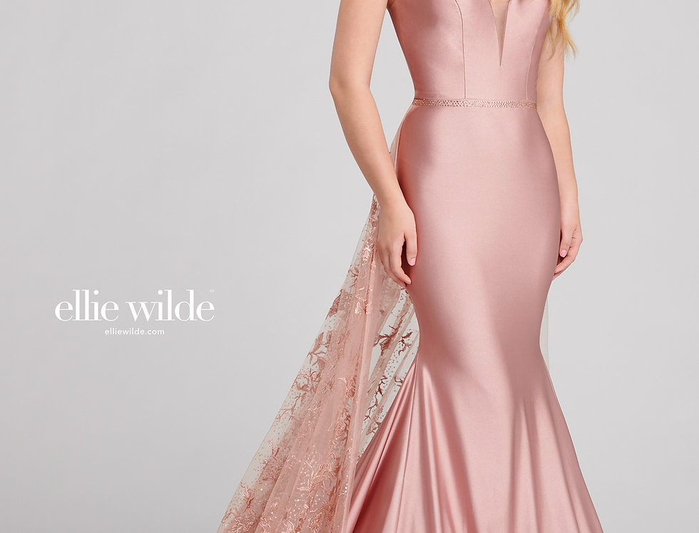 Tulle & Lace Over Skirt Gown