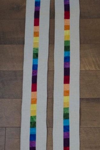 Rainbow Stripe Stole