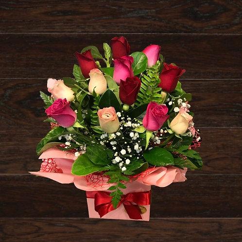 Petite Box Of 12 Roses