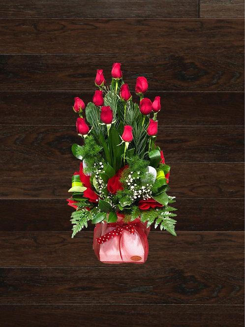 12 Long Stem Roses In A Box