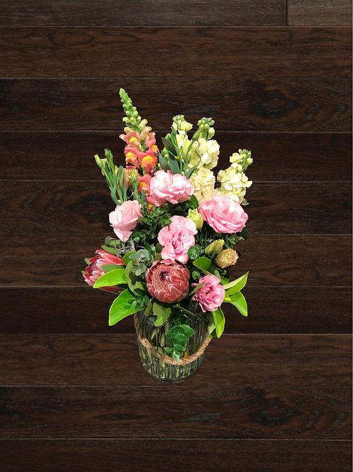 Bouquet in Glass Jar