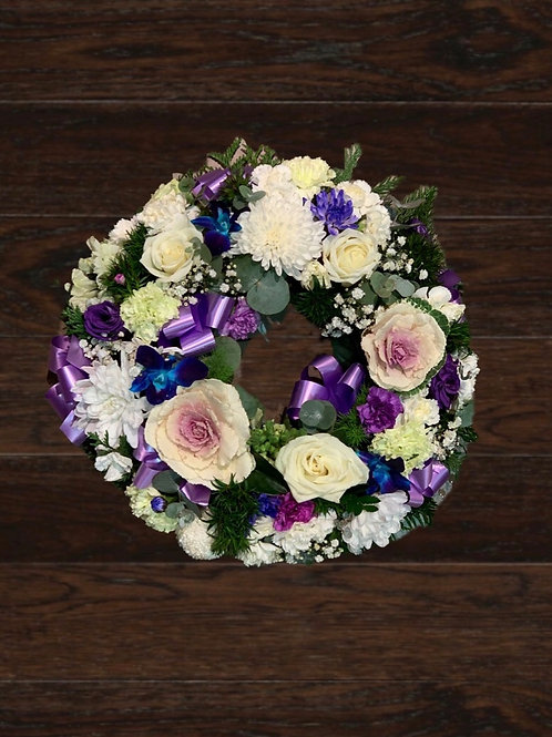 White & Purple Wreath