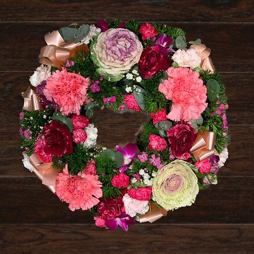 Pink & Peach Wreath