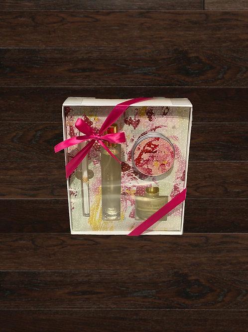 Vanilla Gift Set - Candle, Diffuser, Room Spray