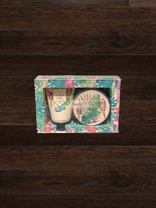 Coconut Lime Verbena Gift Set - Candle/Hand Cream