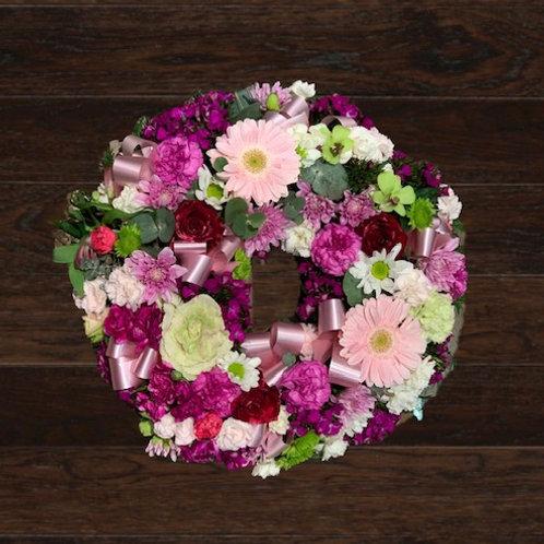 Pink & Mint Wreath