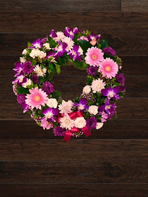 Pink & Purple Wreath - Other colour options available -