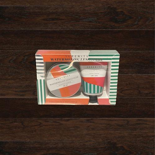 Watermelon Lemonade Gift Set - Candle/Hand Cream