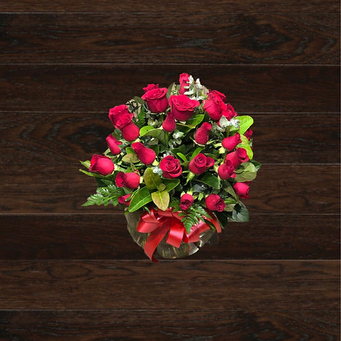 24 Roses In A Fishbowl (4 days pre-order req'd)