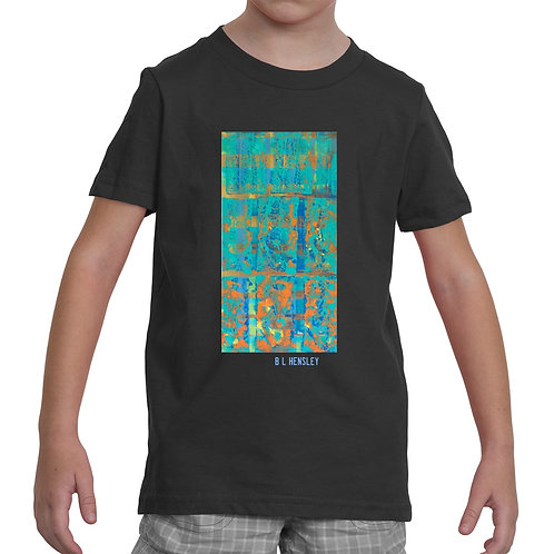 Teal Abstract Little Kids T-Shirt