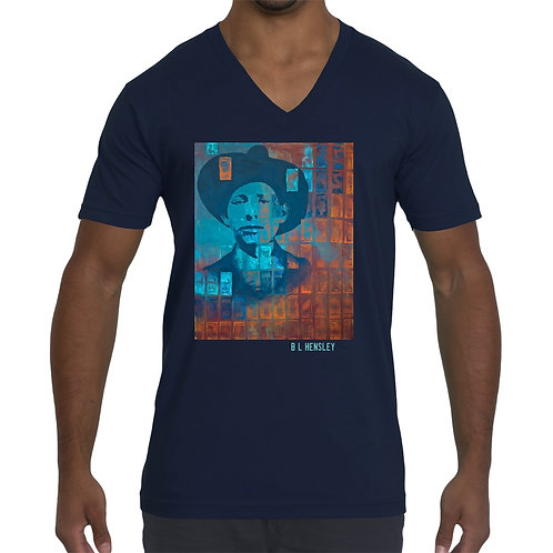 Young Chickasaw Man Unisex V Neck