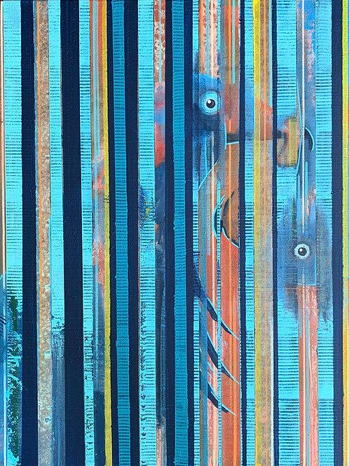 "Foshi Striped 8""x10"" Print"