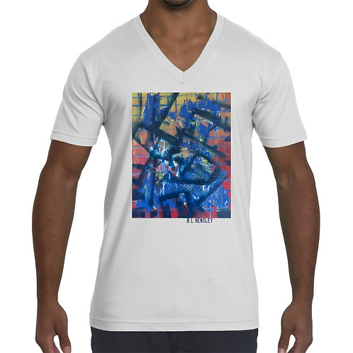 Abstract Unisex V Neck