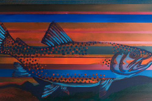 "Spotted Trout 48""x30""(SOLD)"