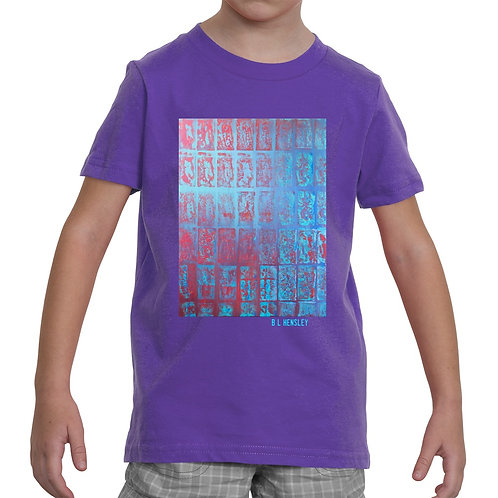 Red Abstract Little Kids T-Shirt