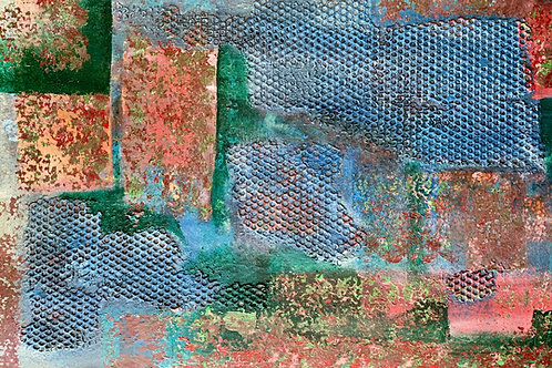 """Texture on Green 24""""x36"""" (SOLD)"""