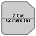 2 Cut Corners (a fold)