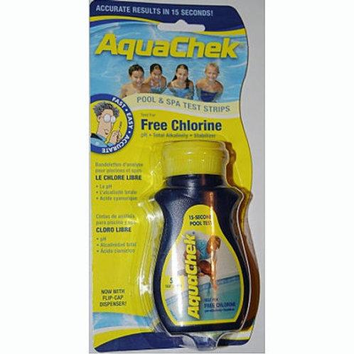 AquaChek Yellow Test Strips for Chlorine, pH Bal