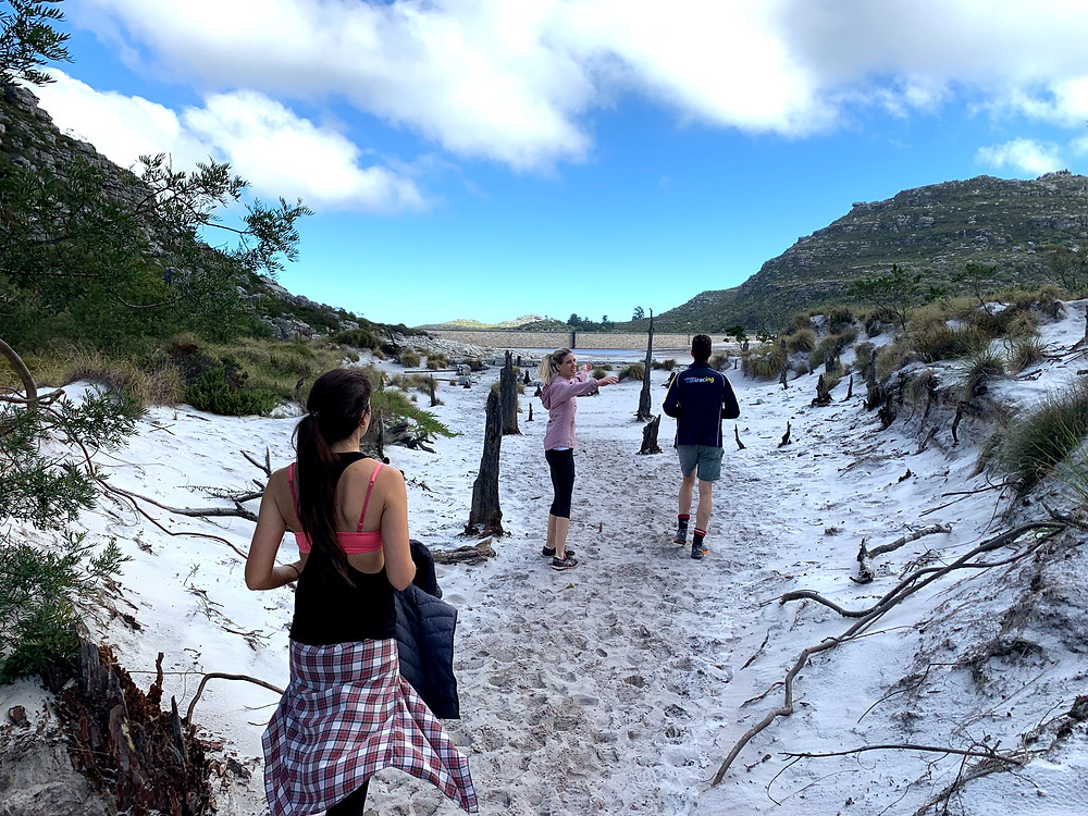 Beach with white sand on Table Mountain