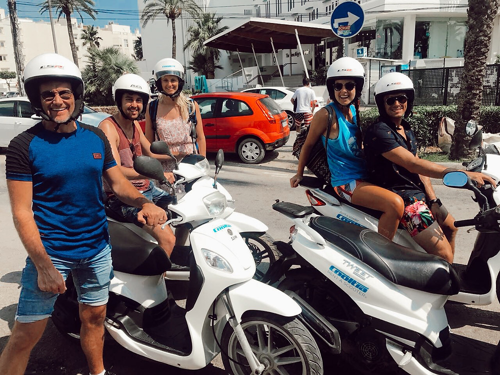 The Scooter Gang in Ibiza