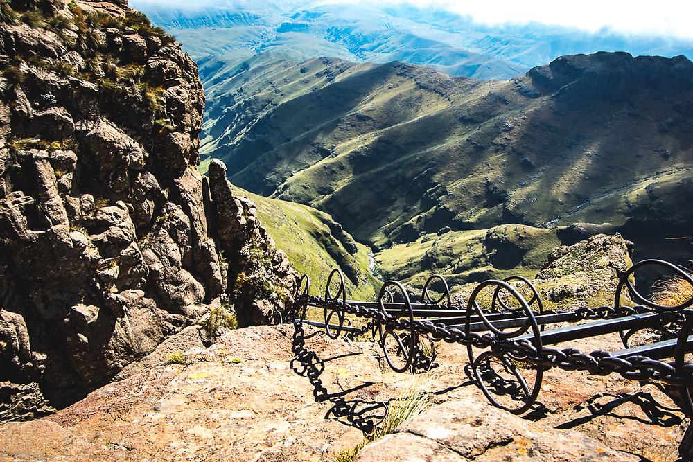 The Chain Ladder hike aka Sentinel Peak, South Africa