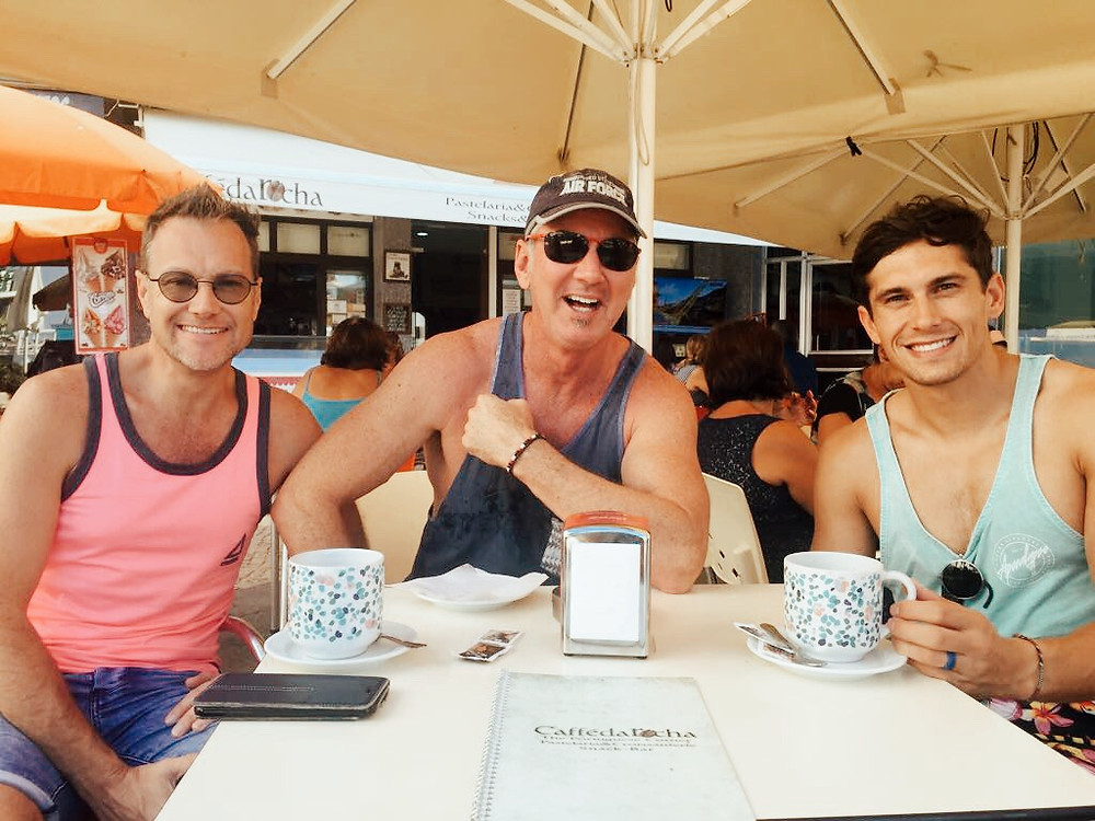 Morning coffee in Praia de Rocha