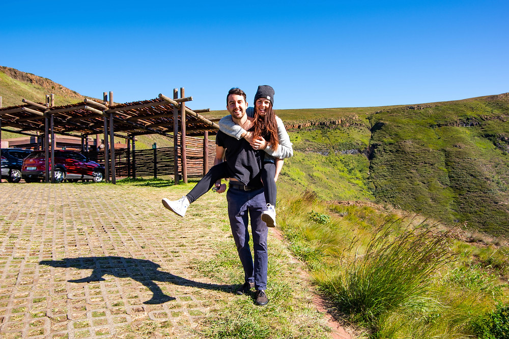 Outside the cabins at Golden Gate Highlands Retreat