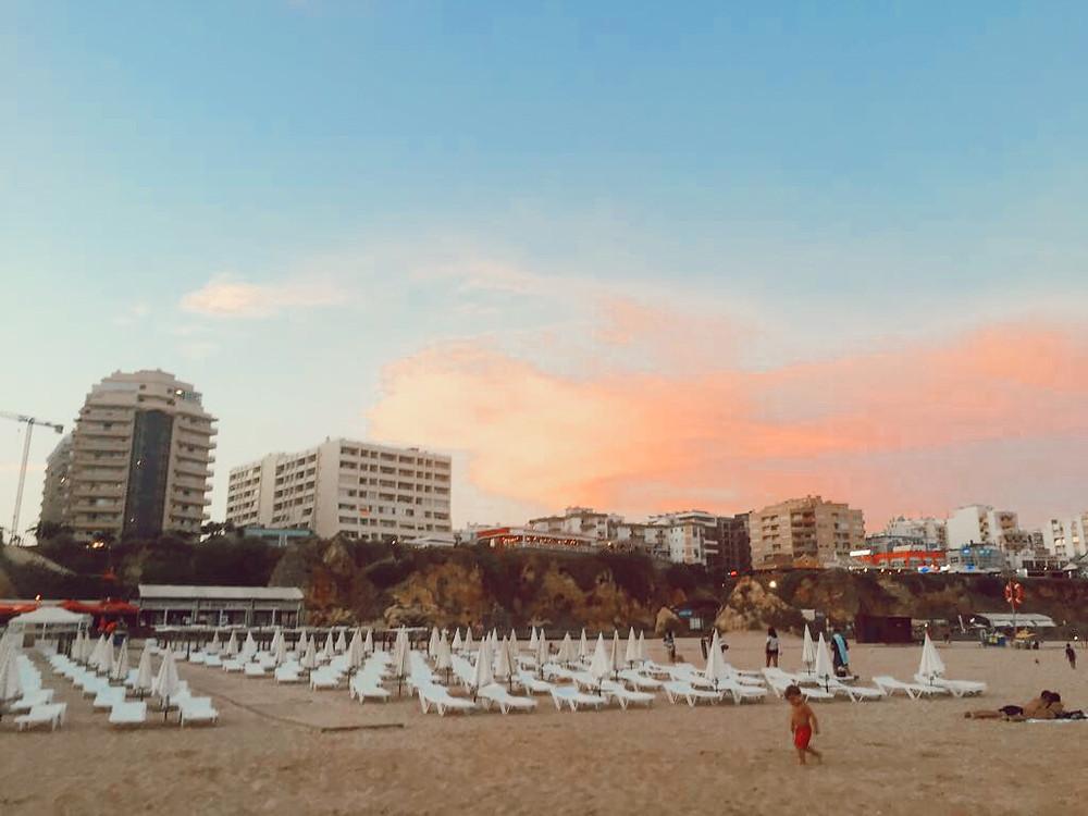 Praia de Rocha at sunset