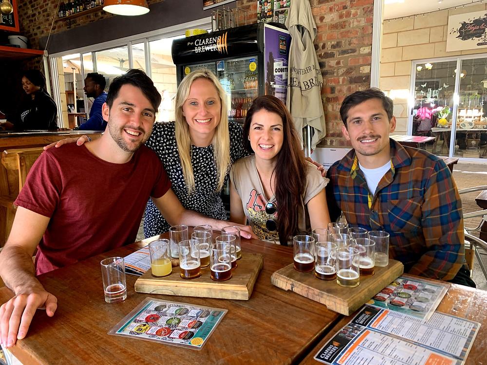 Clarens Brewery tasting