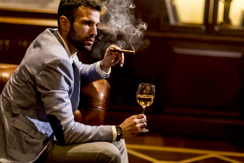 Wine and cigar Airport promotion