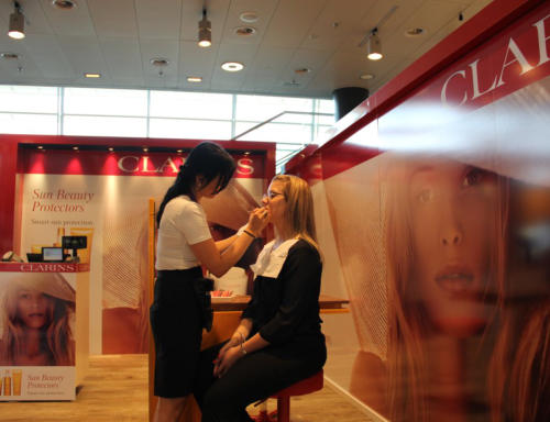 Clarins Airport Promotion