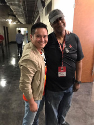 034_Chuck at Rockets Game with friend Hu