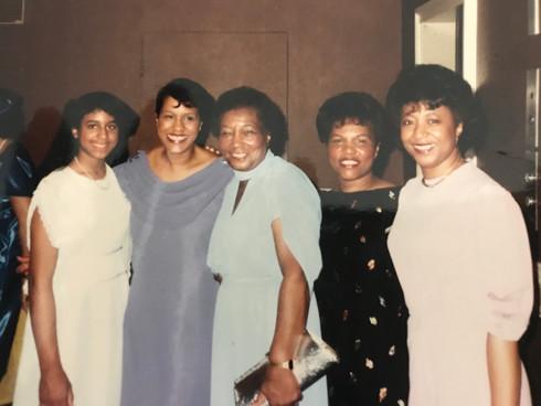 Church Banquet - Micha, Mom, Grandma, Vi
