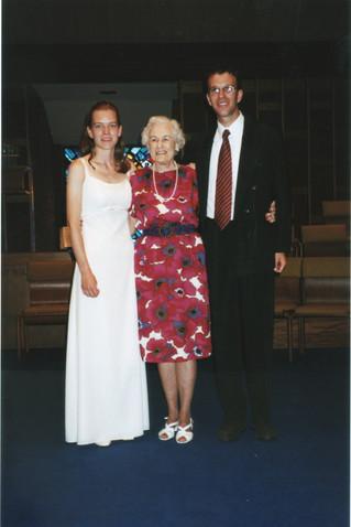 Millie, Elaine, Florian Wedding 1999.jpg