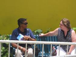 041-Nancy having a good chat.JPG