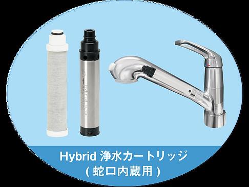 Hybrid浄水カートリッジ(蛇口内蔵用)