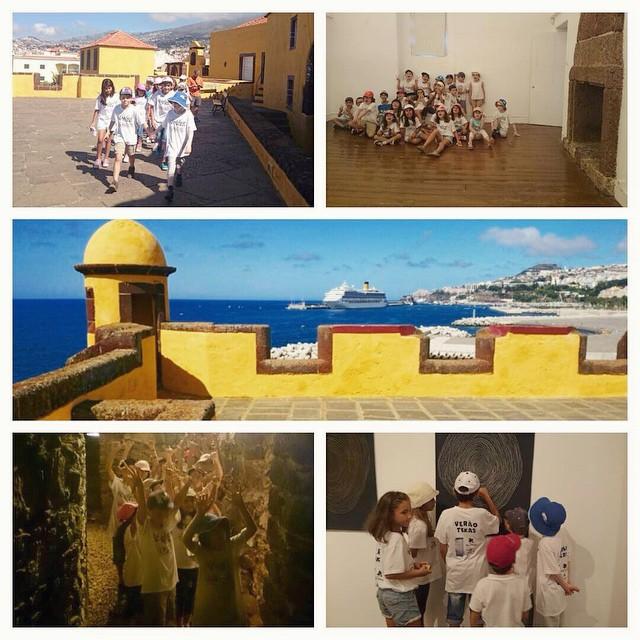 Instagram - Hoje fomos visitar o forte de São Tiago e o museu de Arte Contemporâ