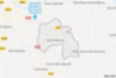 Plan d la communede Saint-Nexans