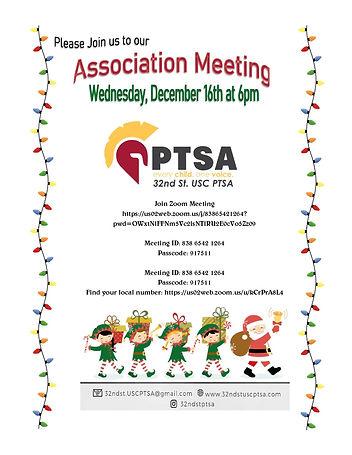 December 2020 Association Metting