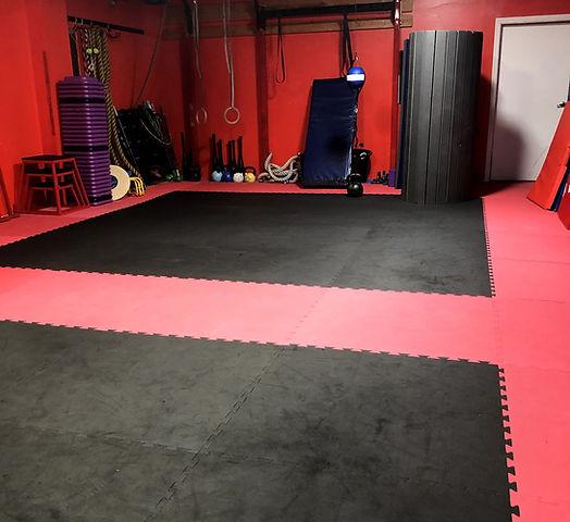 large gymnastics and fitness studio