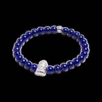 Pulseira Masculina Lank Pedra Lapis Lazuli Azul