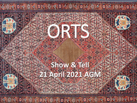 21st April 2021 at 6 pm: AGM followed by Show and Tell from committee members. Via Zoom.