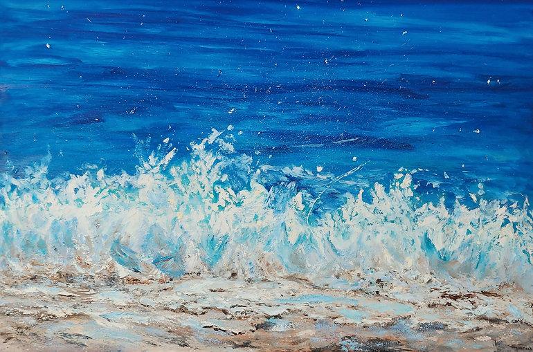 Dance on the Beach, 40 x 60, oil on gall