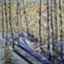 SNOWY PATH, 48 X 48.JPG