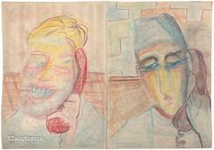 А. Зверев. Рисунок-квадриптих. 1960-е (2
