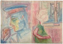 А. Зверев. Рисунок-квадриптих. 1960-е